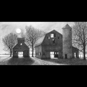 Drawing of barns