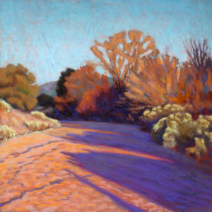 Pastel of a road