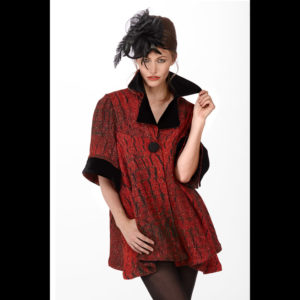 Red and black Women's dress
