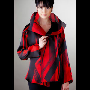 Women's red and black jacket
