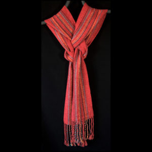 Scarf with red and blue