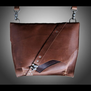 Brown purse with silver latch