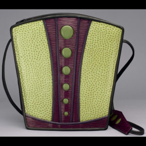 Purse with green and purple