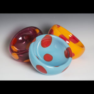 glass bowls with various colors