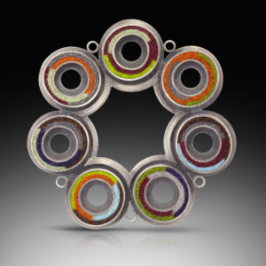 Silver jewelry with mixed colors
