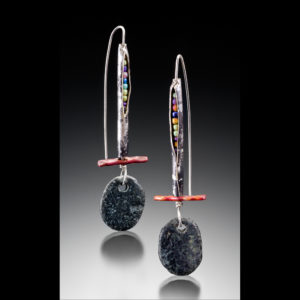 Earrings with beads and different stones