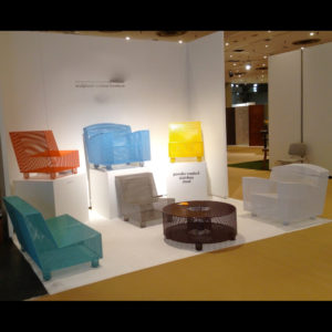 Display of chairs
