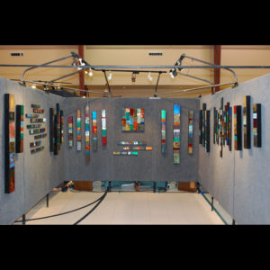 Art display of rectangle paintings