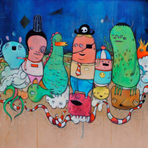Painting of various creatures