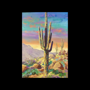 Painting of a cactus