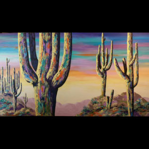 Painting of cactuses