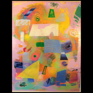 Painting with various shapes and colors