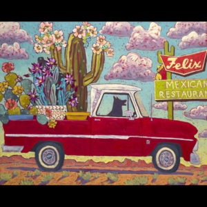Truck filled with flowers