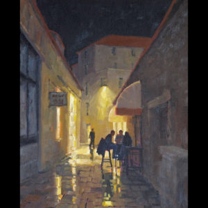 Painting of a side street
