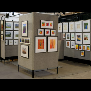 An art display of prints