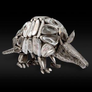 Armadillo made of golf clubs