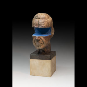 sculpture of a man's head