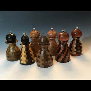 Wooden pepper shakers