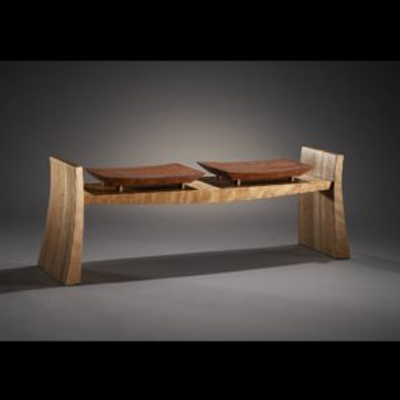 Brian Hubel-Wooden bench for display