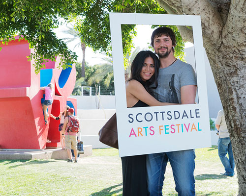 A couple at the Scottsdale Arts Festival