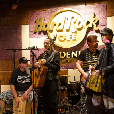 Performers at the Hard Rock Cafe