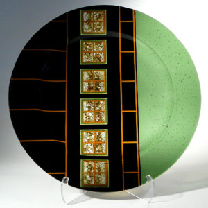 Glass plate with artwork