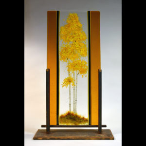 Glass with painting of a tree
