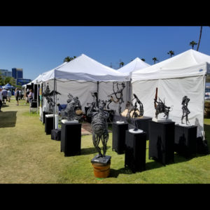 Metal sculpture display